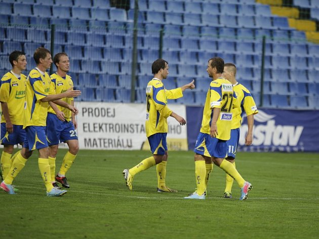 Ilustrační foto ze zápasu fotbal Zlín - Vlašim