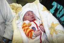 Aleš z Újezdu je prvním miminkem 2017 ve Zlínském kraji