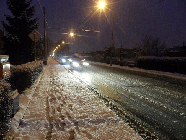 Zasněžený zlín 30. ledna