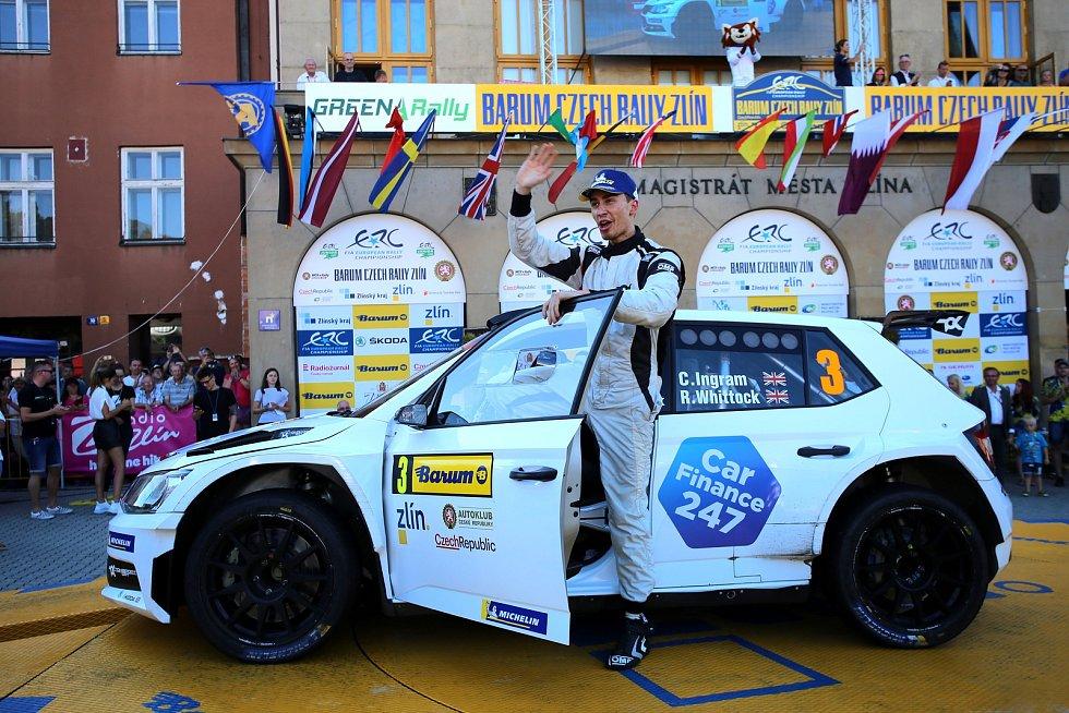 Barum Czech Rally Zlín 2019  cíl Ch.Ingram