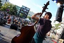 Bohemia Jazz Fest 2013 na náměstí Míru ve Zlíně. Naoko Sakata trio ze Švédska.