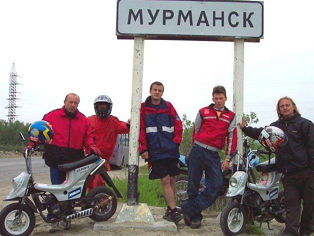 Jaroslav Holík byl s minimotorkami v chladném ruském Murmansku.