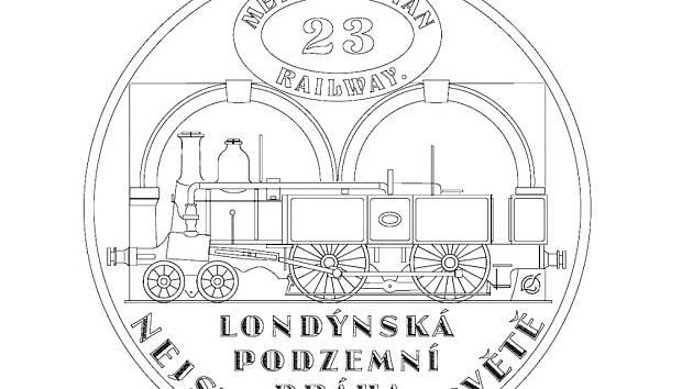 Jedna z medailí připomene i 150. výročí zahájení provozu první podzemní dráhy, kterou byla londýnská Metropolitan railway. Kresebný návrh zpracoval výtvarník Luboš Charvát.