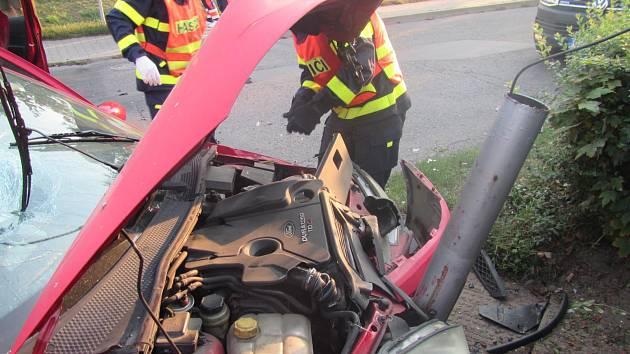 Tři zraněné si vyžádala nehoda ve Zlíně