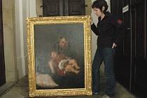Kastelánka Jana Pluhařová představuje obnovený obraz od italského renesančního malíře.