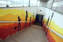 Podchod pod nádražím v Tlumačově.