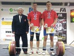 Na snímku zleva trenér Jar. Janeba, Dominik Šesták a Pavel Jančík.