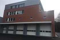 Nová budova sídla krajských hasičů ve Zlíně.