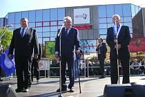 Návštěva prezidenta Miloše Zemana v Otrokovicích