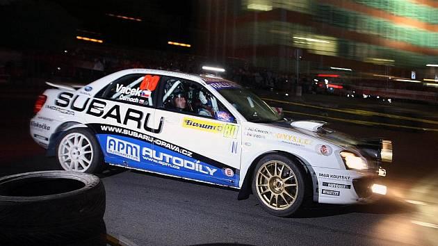 Noční erzeta Barum Czech Rally Zlín