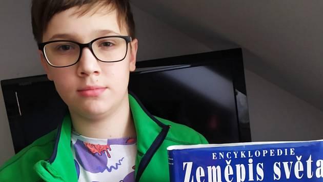 Radek Miklas z 8. třídy ZŠ Gabry a Málinky.