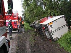 U Napajedel havaroval kamion.
