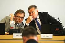 Zastupitelstvo Zlínského kraje 17.6.2019. Pavel Botek a Jiří Čunek.
