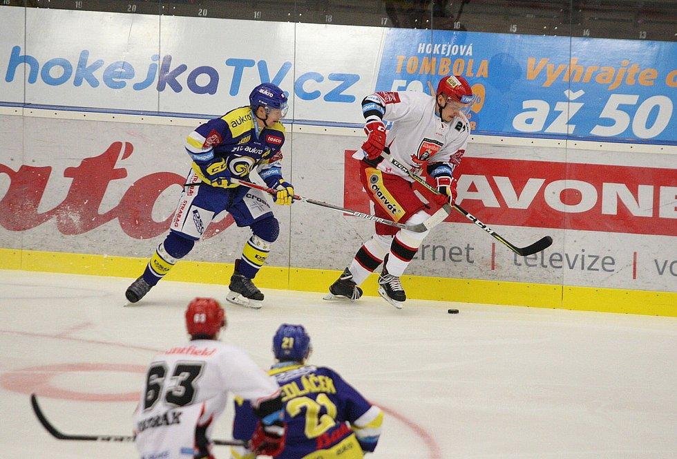 Hokejisté Aukro Berani Zlín nastoupili v rámci 8. kola extraligy proti Hradci Králové.