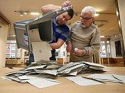 Prezidentské volby 2018 okrsek č. 1  Kolektivní dům. Sčítání hlasů