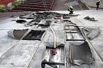 Požár průmyslového objektu v Ludkovicích. FOTO zdroj: HZS ZLK.