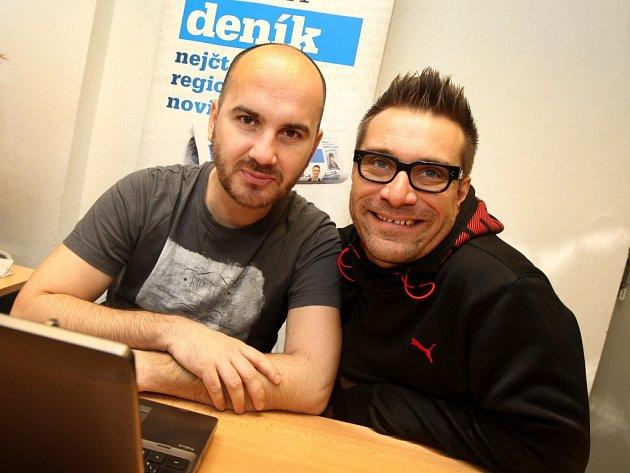 Skupina NO NAME ve Zlínské redakci Deníku.  Na snímku zleva Igor Timko a Zoli Sallai