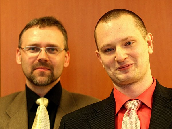 Zlínská cena Salvator 2014.Dušan Rudecký a Jakub Smiřický (vpravo)