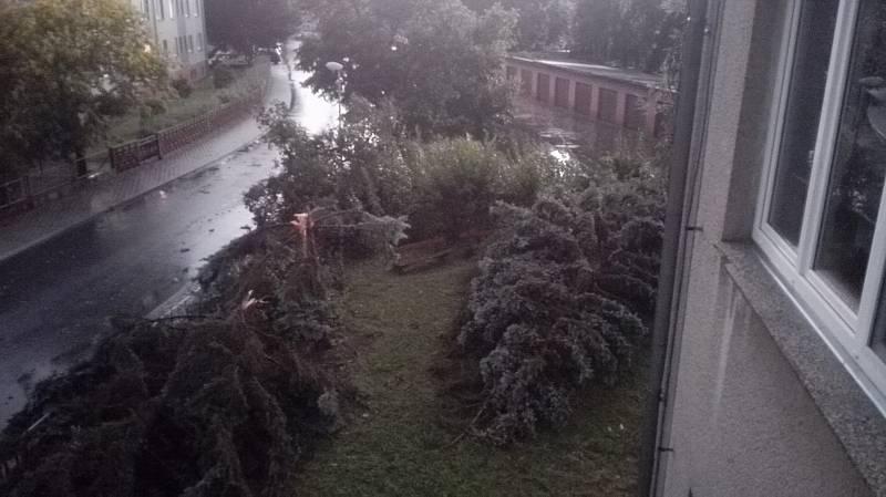 Bouřka v Hulíně, 28.7.2020.