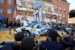 Barum Czech Rally Zlín 2018. Cíl na náměstí Míru. 1. místo Jan Kopecký