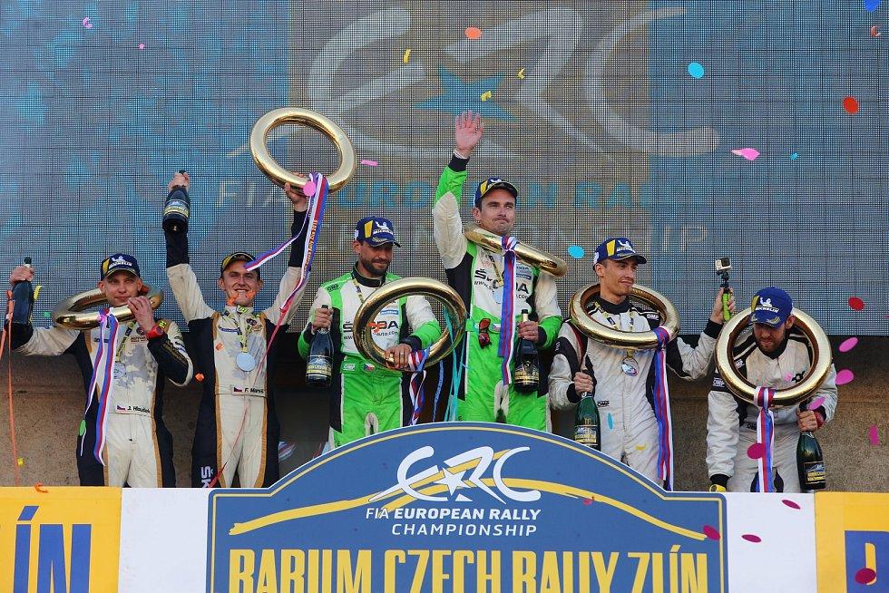 Barum Czech Rally Zlín 2019  cíl
