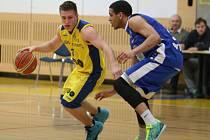 Basketbal, I. liga mužů, Zlín (žlutí) - Trutnov