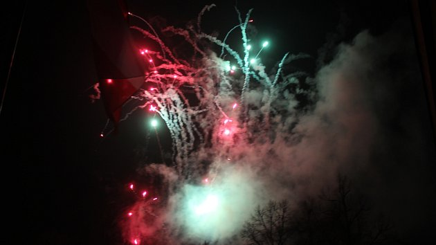 Novoroční ohňostroj ve Zlíně