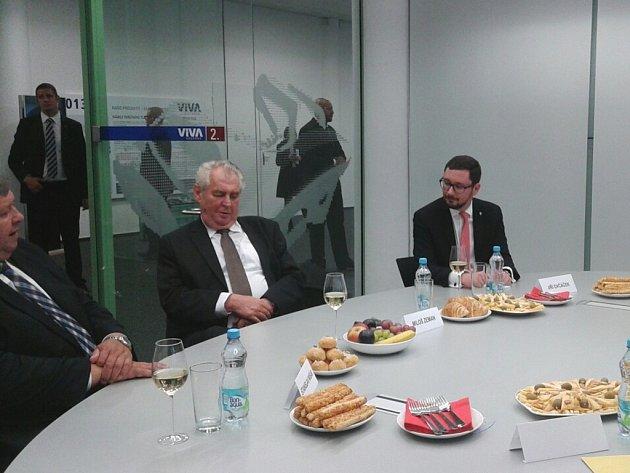 Prezident Miloš Zeman vkovárně VIVA