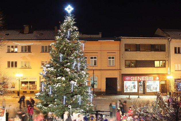 Vánoční strom Bystřice pod Hostýnem