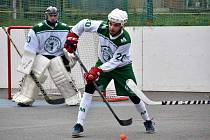 hokejbalista prvoligových Malenovic Jana Havlíka