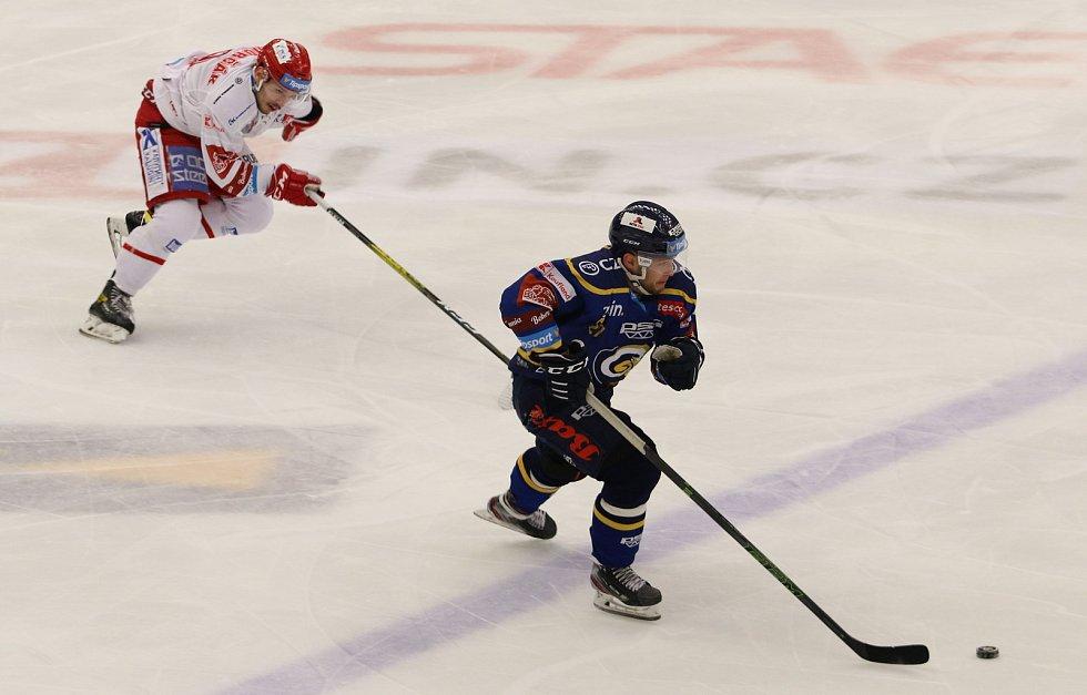 Hokejisté Zlína v 31. kole extraligy na Zimním stadionu Luďka Čajky vyzval první Třinec.
