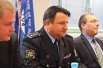 Policejní prezident Tomáš Tuhý při tiskové konferenci ve Zlíně