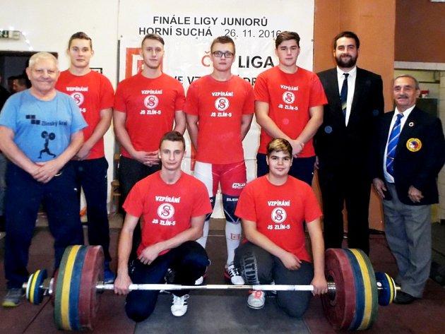 Juniorští vzpěrači Zlína sahali po medaili, skončili bramboroví