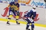Extraligoví hokejisté Zlína (vš žlutém) v nedělním 26. kole doma hostili mistrovskou Kometu Brno. Na snímku Lakatoš.