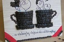 Výrobky z kávových zrn.