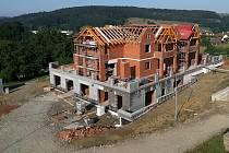 V Pozlovicích na Zlínsku roste nový penzion
