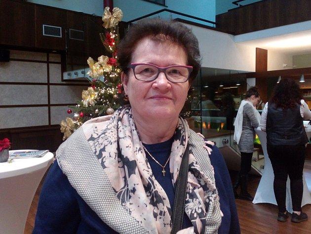 Edita Hrbáčková, starostka obce Sazovice.