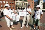 Protest starostů a nezávislých proti politice Zlínského kraje při přerozdělování dotací EU