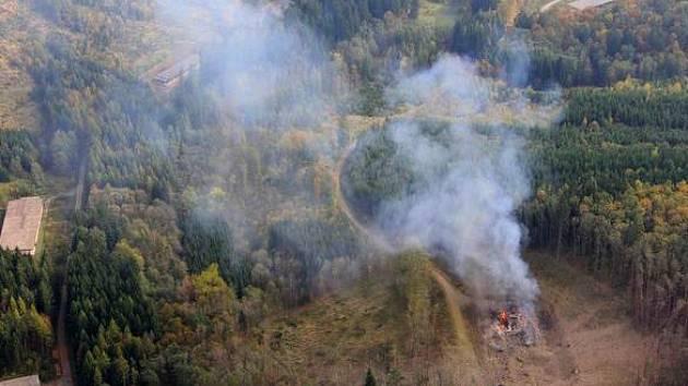 Místo výbuchu ve Vrběticích. Ilustrační foto
