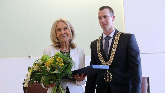 Slavnostní předávání ceny města Zlína za rok 2018. Eva Jiřičná