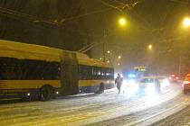 Dopravní situace ve Zlíně 31. 1. 2017