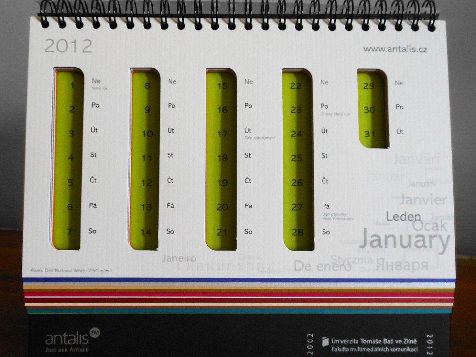 Studenti Petr Belák a Veronika Nováková stvořili unikátní kalendáře