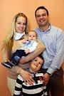 Vítání občánků 27.3. 2015. Jan a Lenka Weissovi se synem Viktorem a Tomáškem ( v náručí)