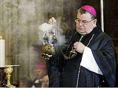 První muž katolické církve v České republice Dominik Duka.