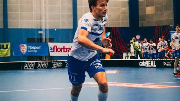 Osmnáctiletý útočník Jakub Haša vstřelil první branku florbalistů Otrokovic v novém soutěžním ročníku.