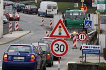 Oprava mostu v centru Vizovic.