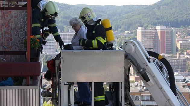 Požár prvního segmentu na sídlišti Jižní Svahy