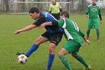 Fotbal, OFS Zlín, III. třída, Fryšták B (zelení) - Louky.