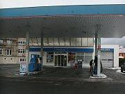 Čerpací stanice v Napajedlích, kterou přepadl 31. prosince dvacetiletý mladík se sekyrou.