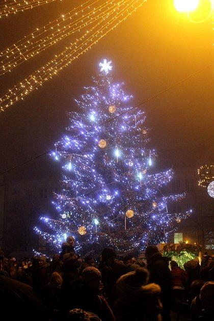Vánoční strom Uherské Hradiště